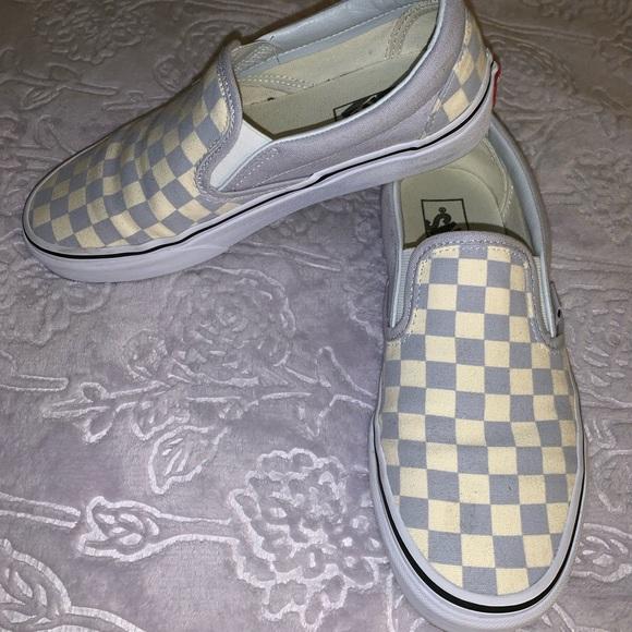 Vans Shoes | Grey Dawn Checkered Vans